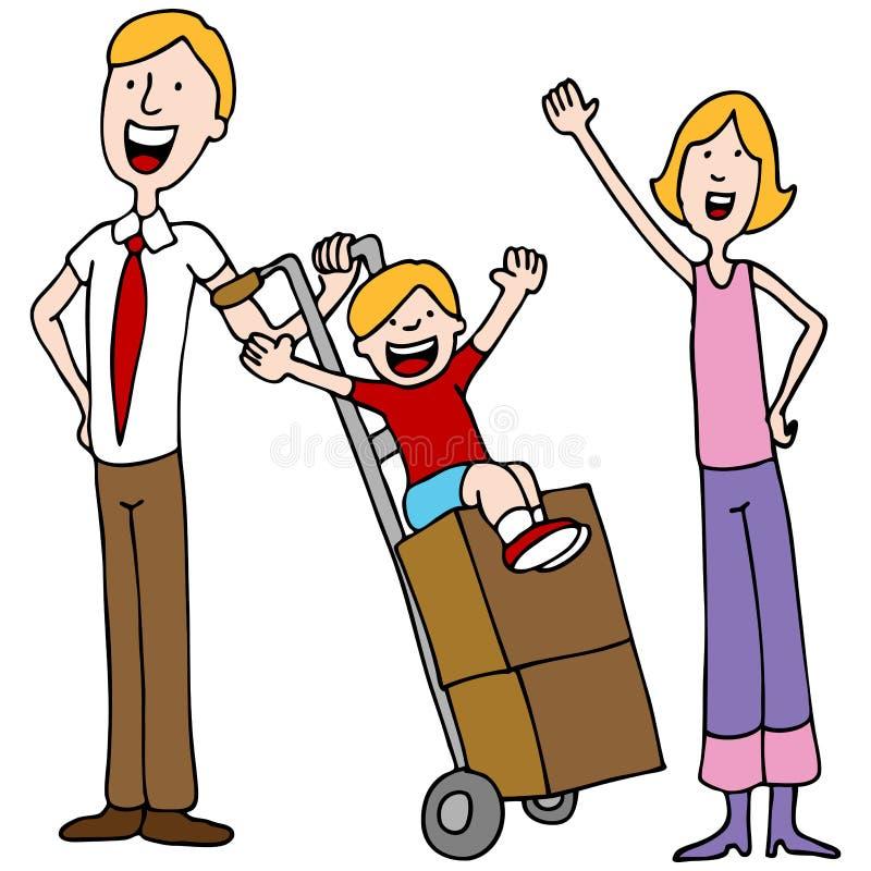 Jour mobile de famille illustration de vecteur