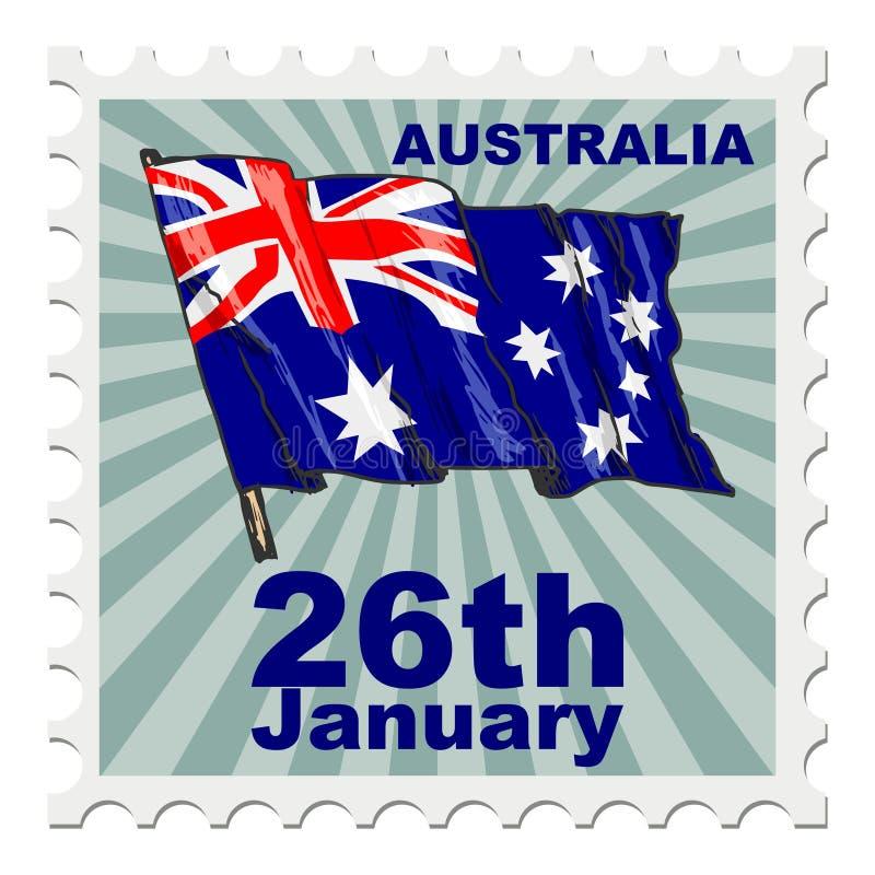 Jour national d'Australie illustration de vecteur