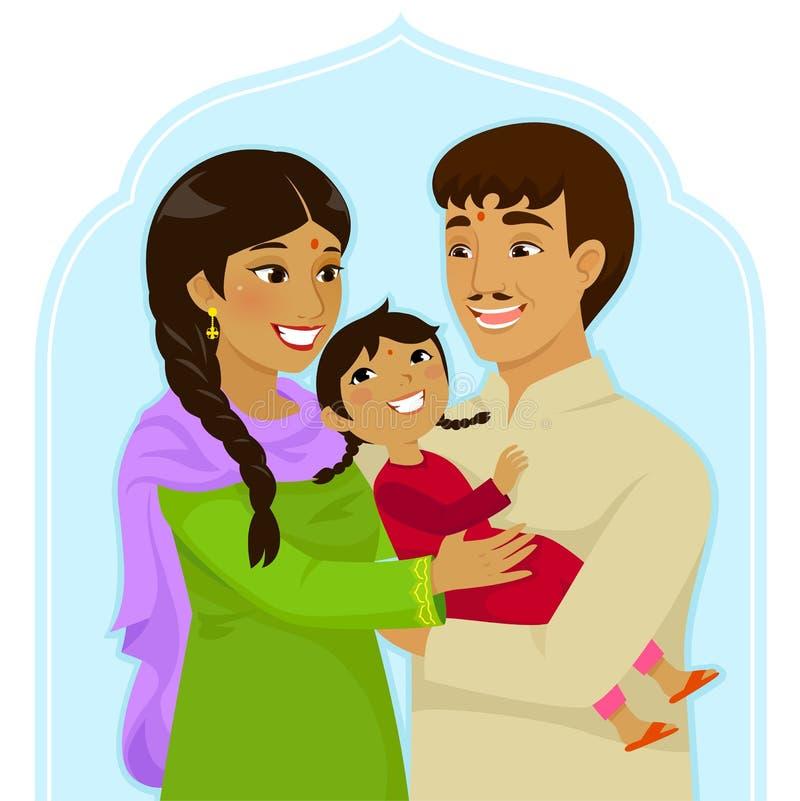 Jour national d'enfant de fille d'Inde illustration de vecteur