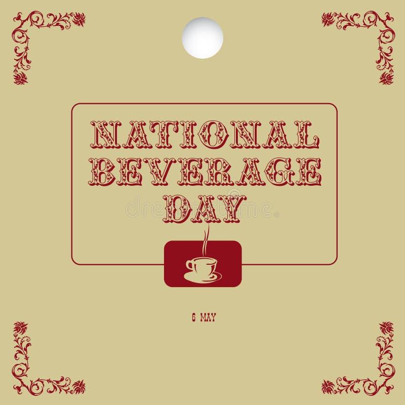 Jour national de boisson d'affiche illustration libre de droits