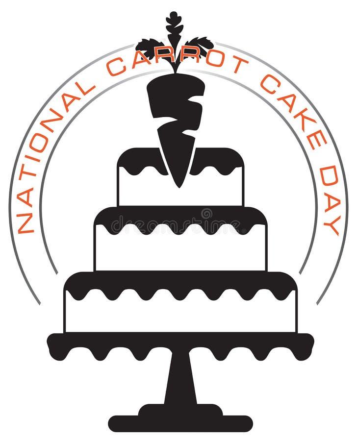 Jour national de gâteau à la carotte illustration de vecteur