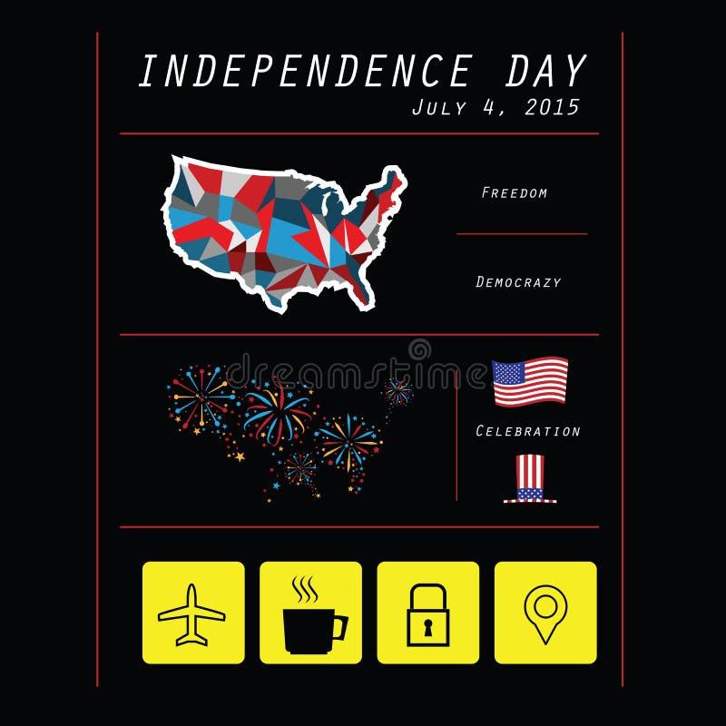 Jour national de l'Amérique infographic illustration libre de droits