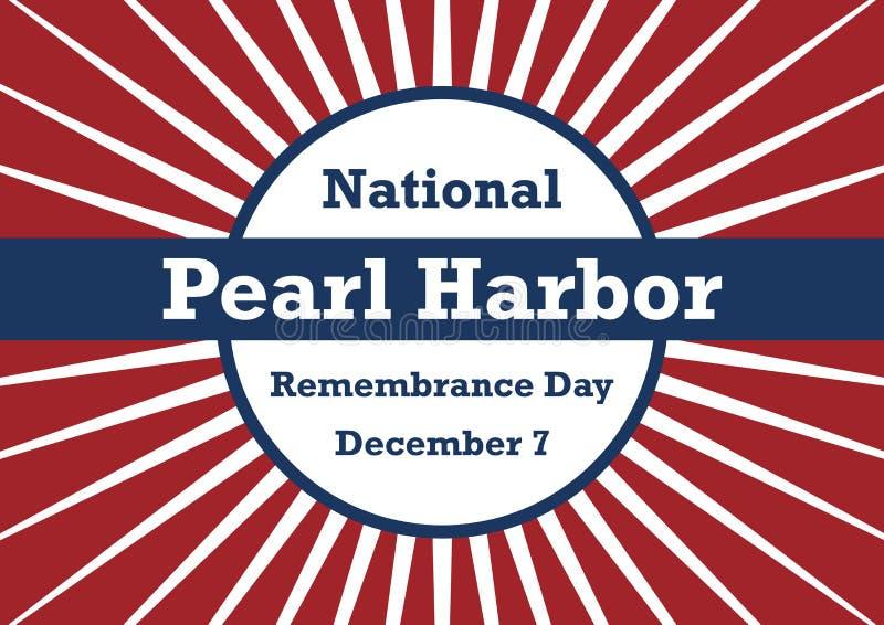 Jour national de Pearl Harbor de vecteur de souvenir illustration de vecteur