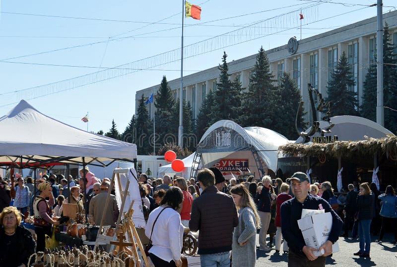 Jour national de vin - festival du vin de Moldau, Chisinau photos libres de droits