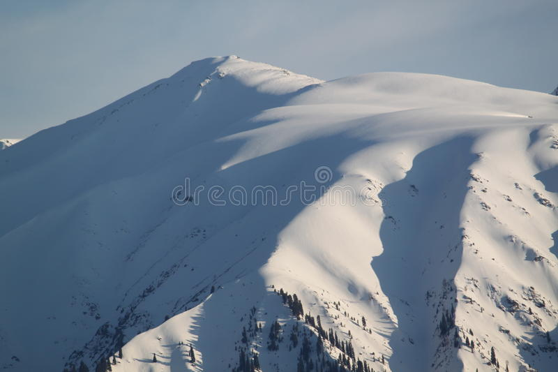jour neigeux image stock