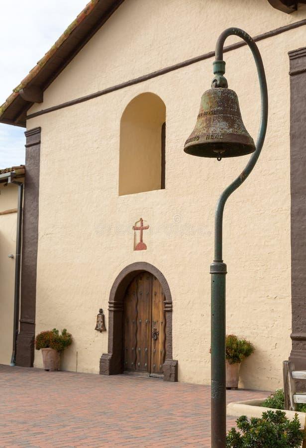 Jour nuageux à la mission la Californie de Santa Ines photographie stock libre de droits