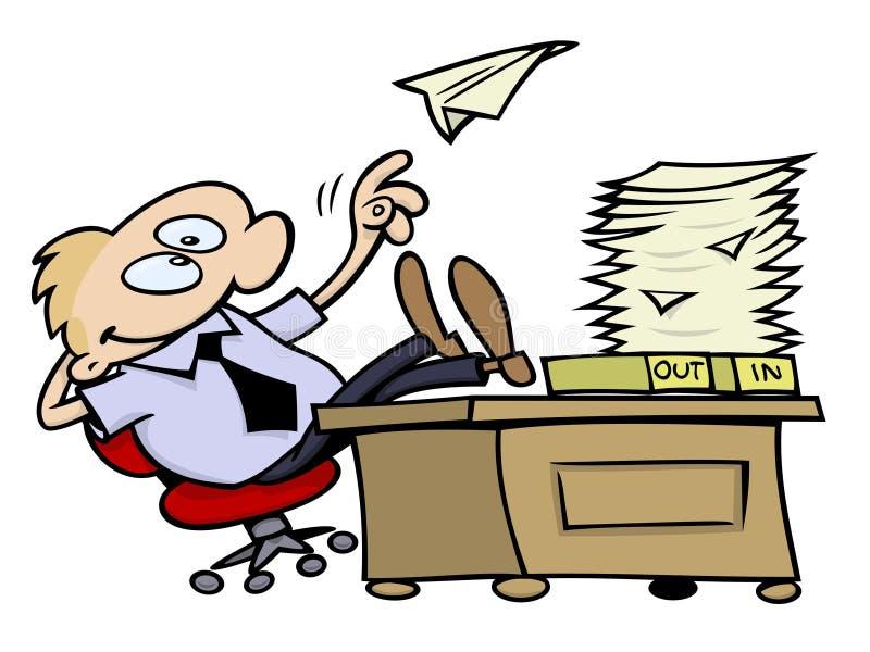 Jour paresseux au bureau illustration de vecteur