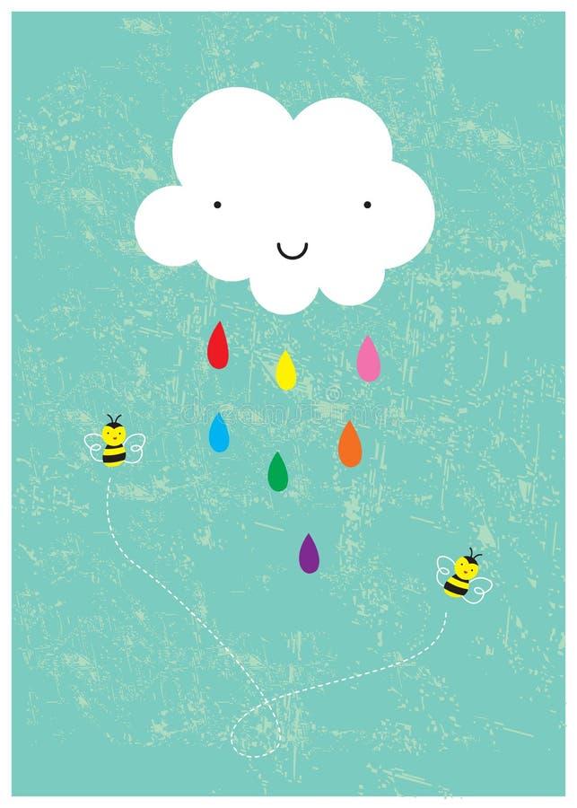 Jour pleuvant heureux photo stock