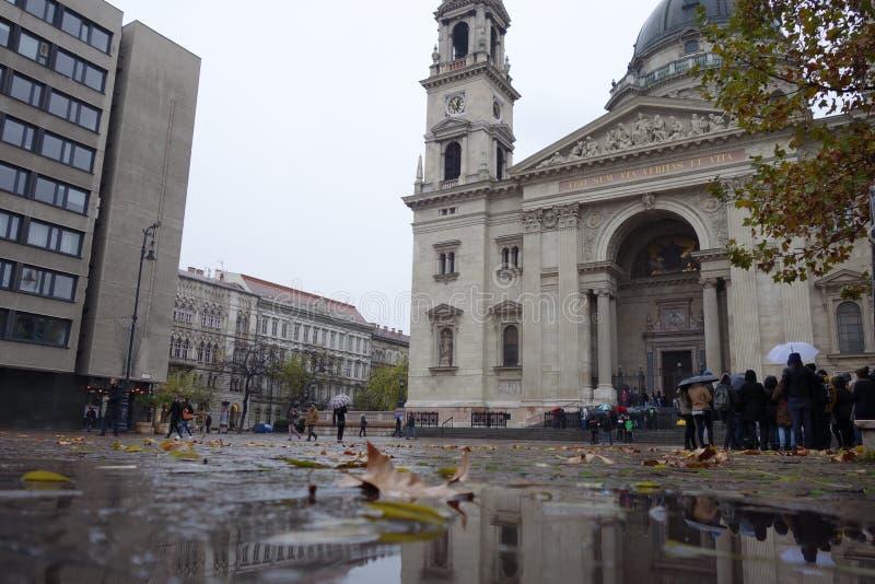 Jour pluvieux à Budapest photo libre de droits