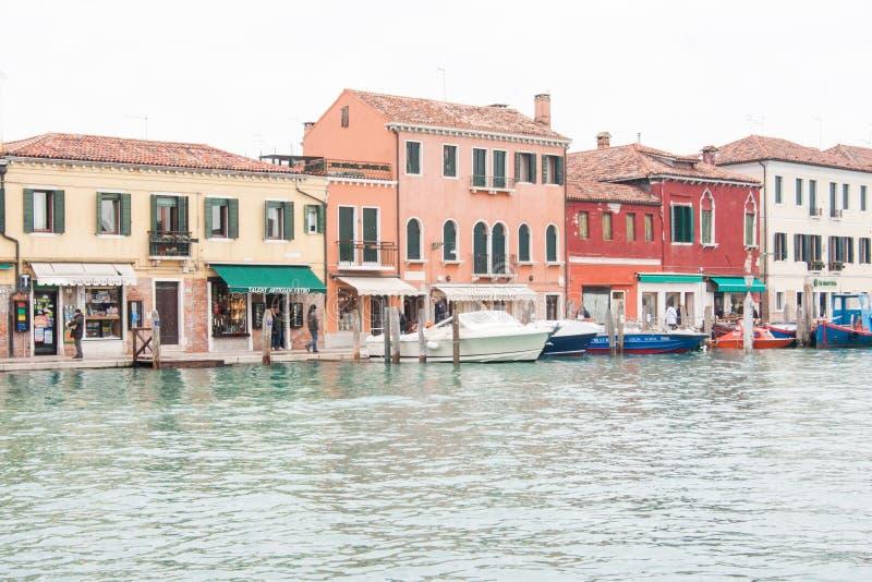 Jour régulier sur l'île de Murano, près de Venise, région de Vénétie, Italie images libres de droits