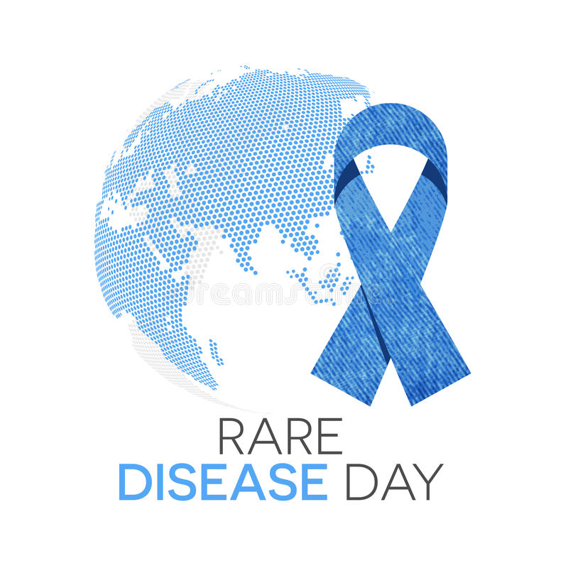 Jour rare de la maladie illustration libre de droits