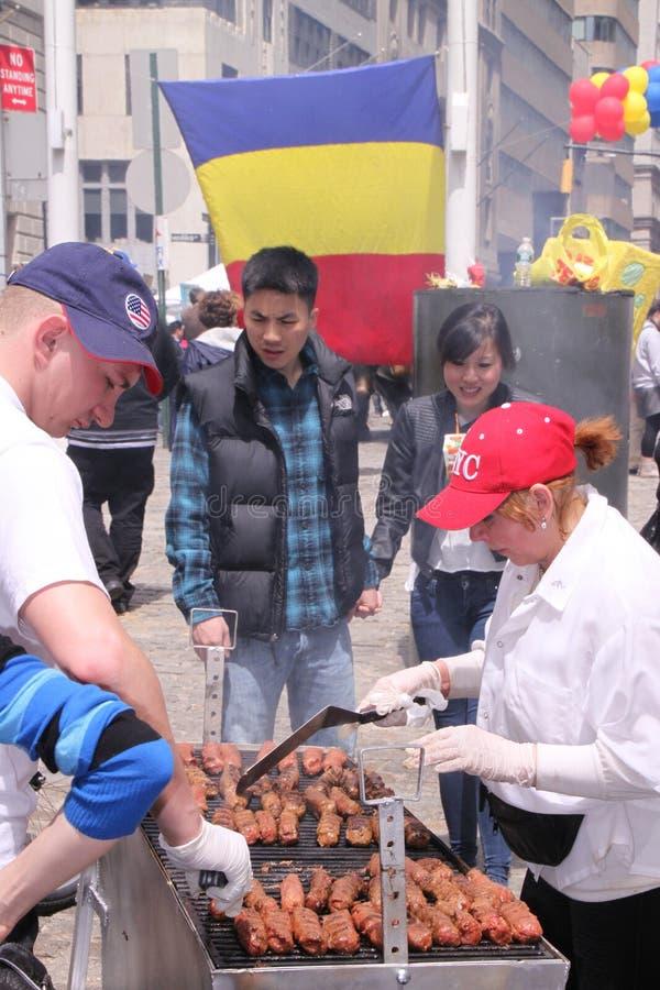 Jour roumain à New York image libre de droits