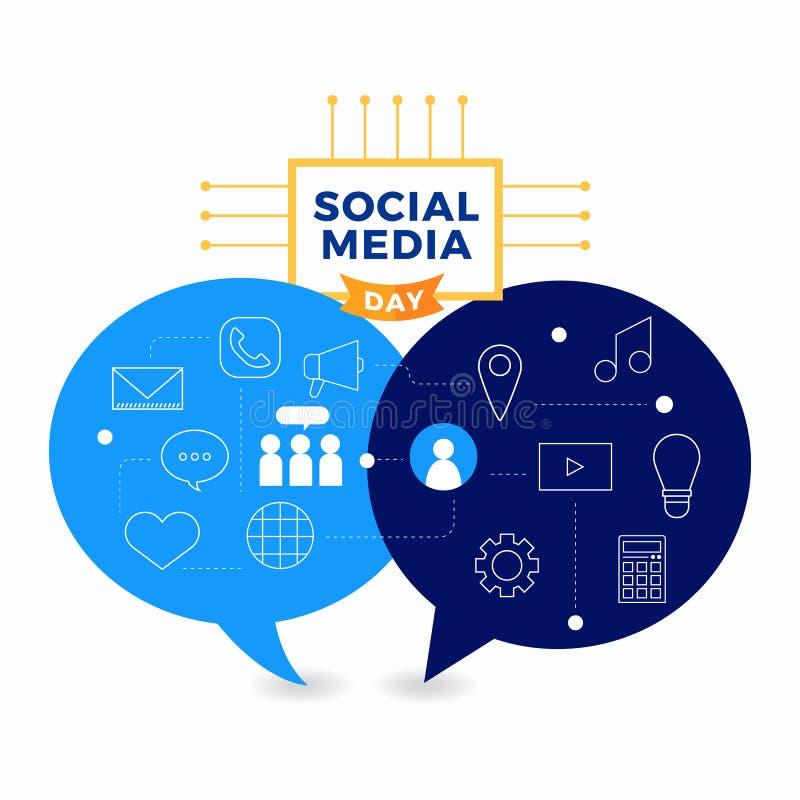 Jour social de media illustration libre de droits