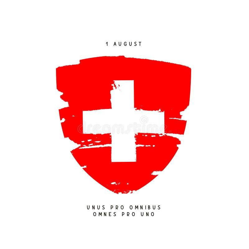 Jour suisse, le 1er août illustration de vecteur