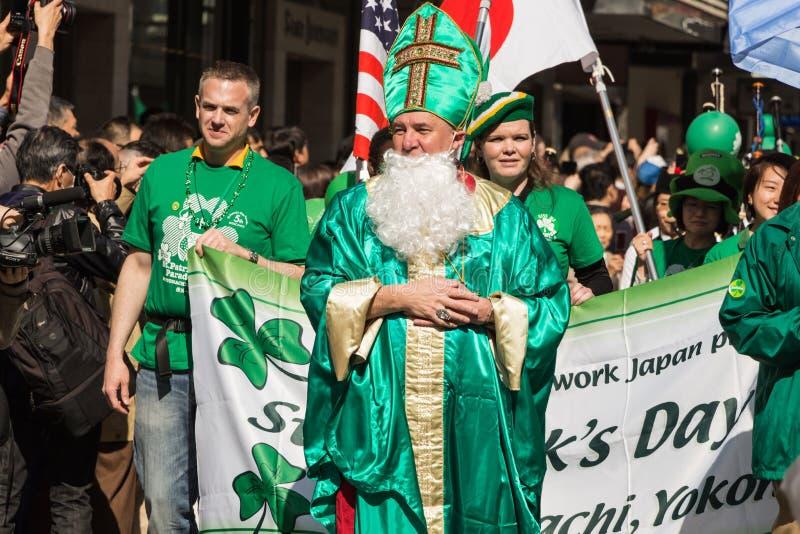 Jour Yokohama, Japon de St Patrik image stock