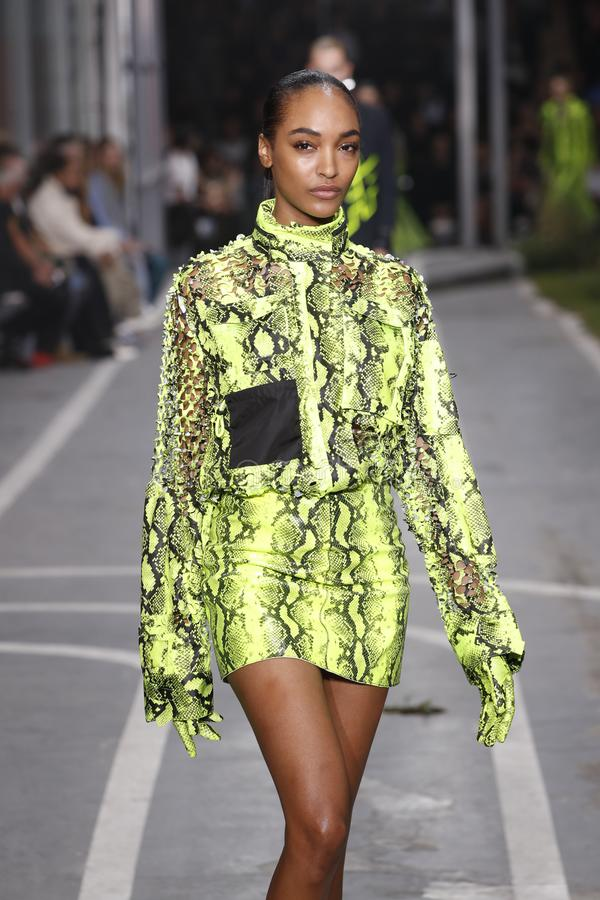 Free Jourdan Dunn Walks The Runway During The Off-White Show As Part Of Paris Fashion Week Womenswear Spring/Summer 2019 Royalty Free Stock Photos - 144145168