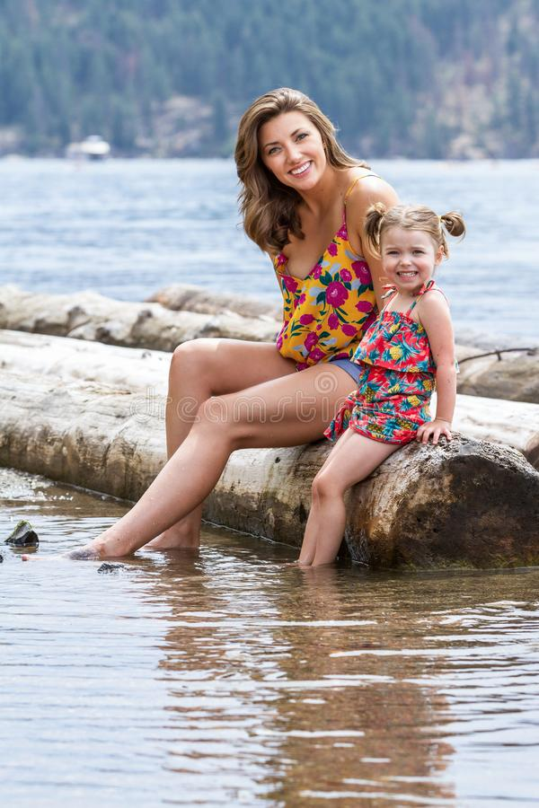 Journée à la plage, Coeur d'Alene photographie stock libre de droits