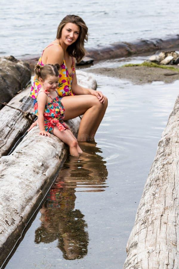Journée à la plage, Coeur d'Alene images stock