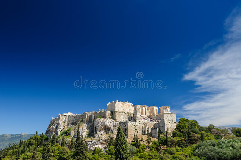 Journée de colline d'Acropole photo libre de droits
