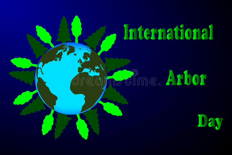 Journée de l'arbre internationale illustration libre de droits