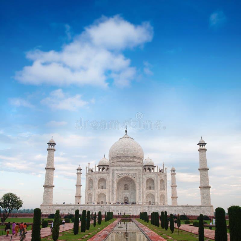 Journée de Taj Mahal Agra India images libres de droits