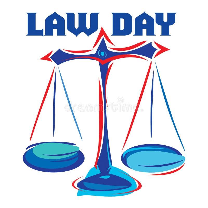 Journée du droit illustration libre de droits