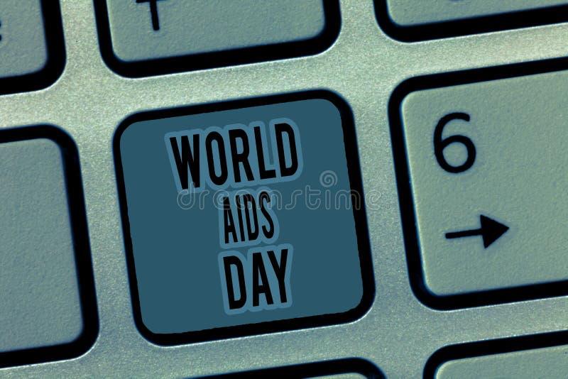Journée mondiale contre le SIDA des textes d'écriture Le concept signification 1er décembre a consacré à soulever la conscience d images stock