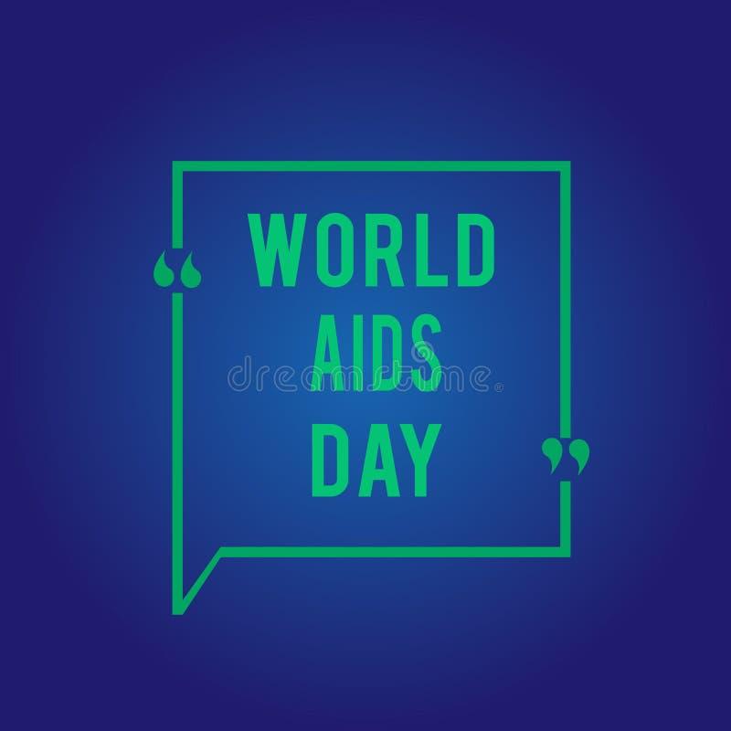 Journée mondiale contre le SIDA des textes d'écriture de Word Le concept d'affaires pour le 1er décembre a consacré à soulever la image libre de droits