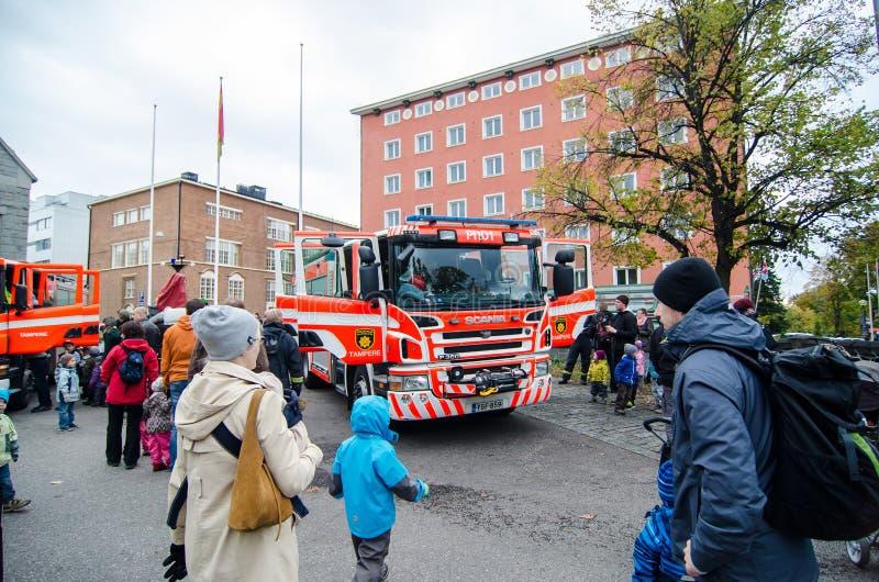 Journée 'portes ouvertes' aux services de délivrance de Pirkanmaa photos stock