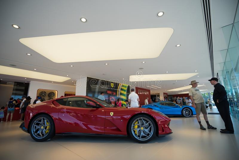Journée 'portes ouvertes' de salle d'exposition de Ferrari Gold Coast Australie image libre de droits