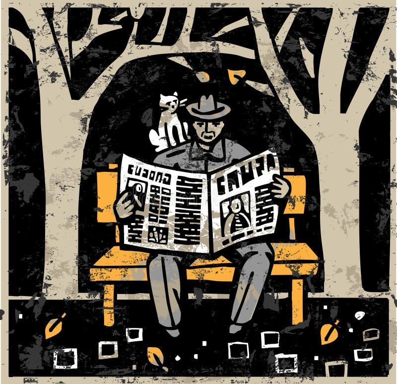 Journal illustration libre de droits