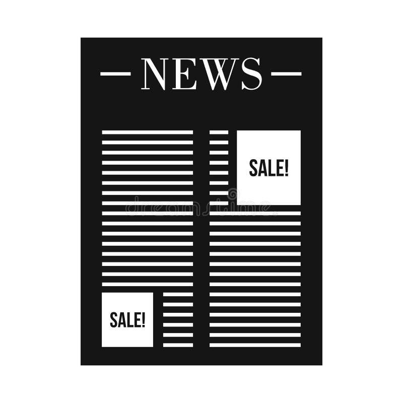 Journal avec l'espace pour l'icône d'annonce, style simple illustration stock
