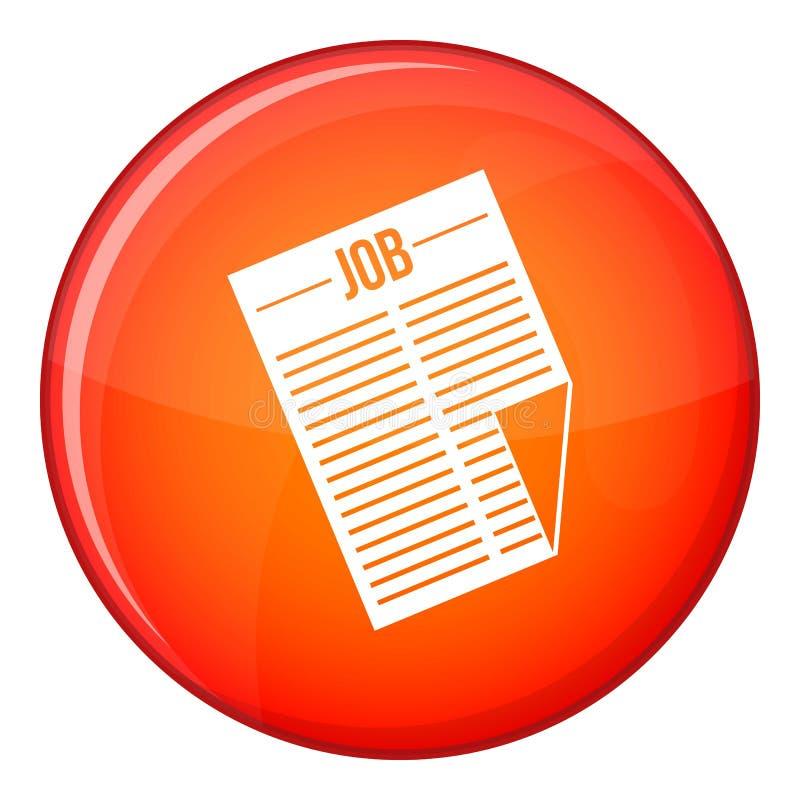 Journal avec l'icône du travail de titre, style plat illustration de vecteur