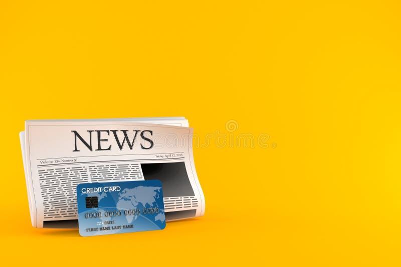 Journal avec la carte de crédit illustration libre de droits