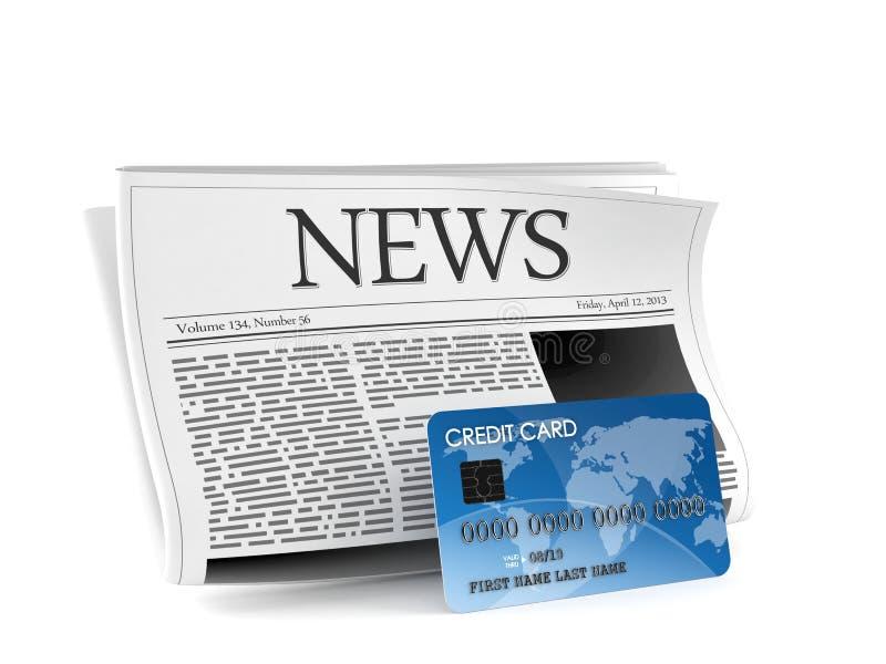 Journal avec la carte de crédit illustration de vecteur