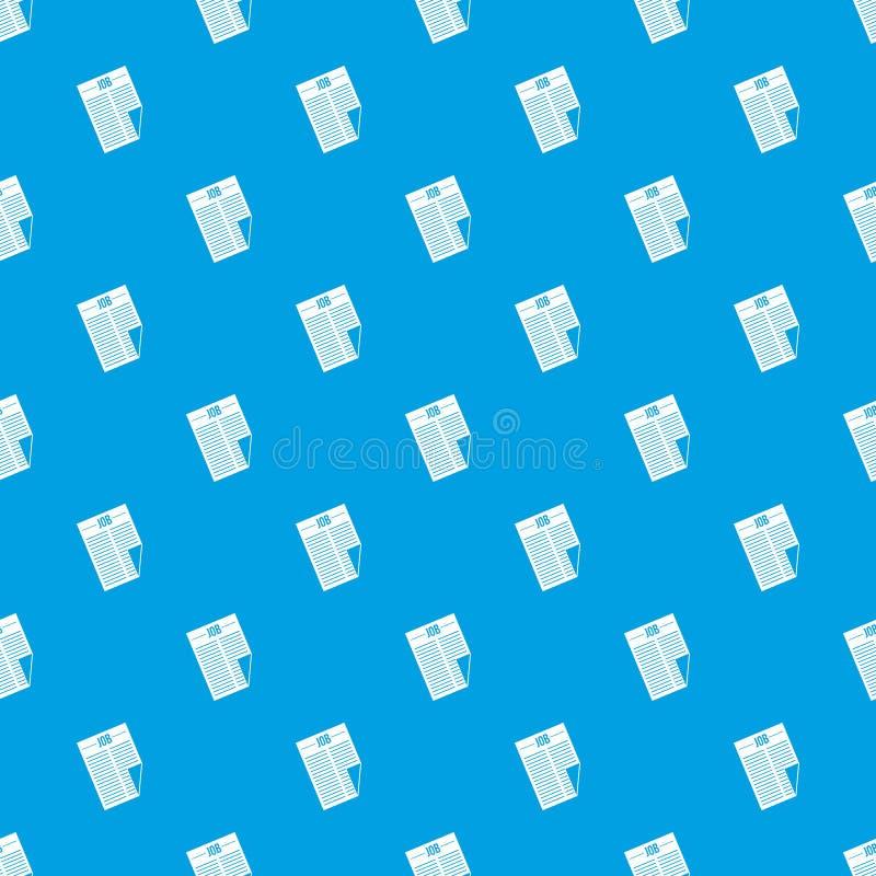 Journal avec le bleu sans couture de modèle du travail de titre illustration libre de droits