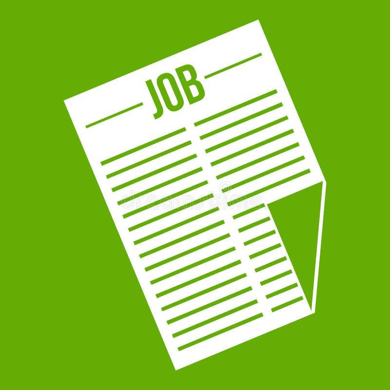 Journal avec le vert d'icône du travail de titre illustration de vecteur