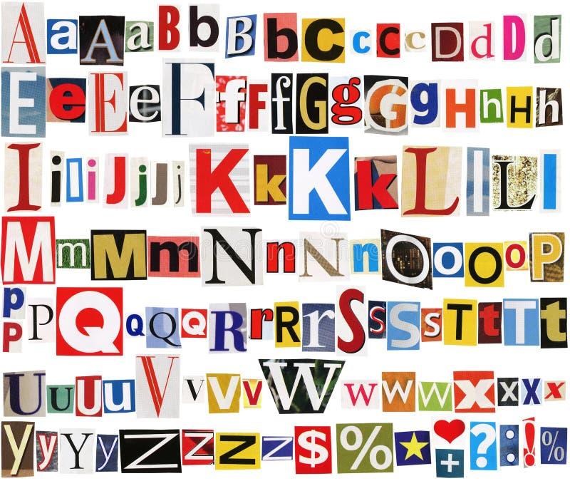 journal coloré d'alphabet images stock