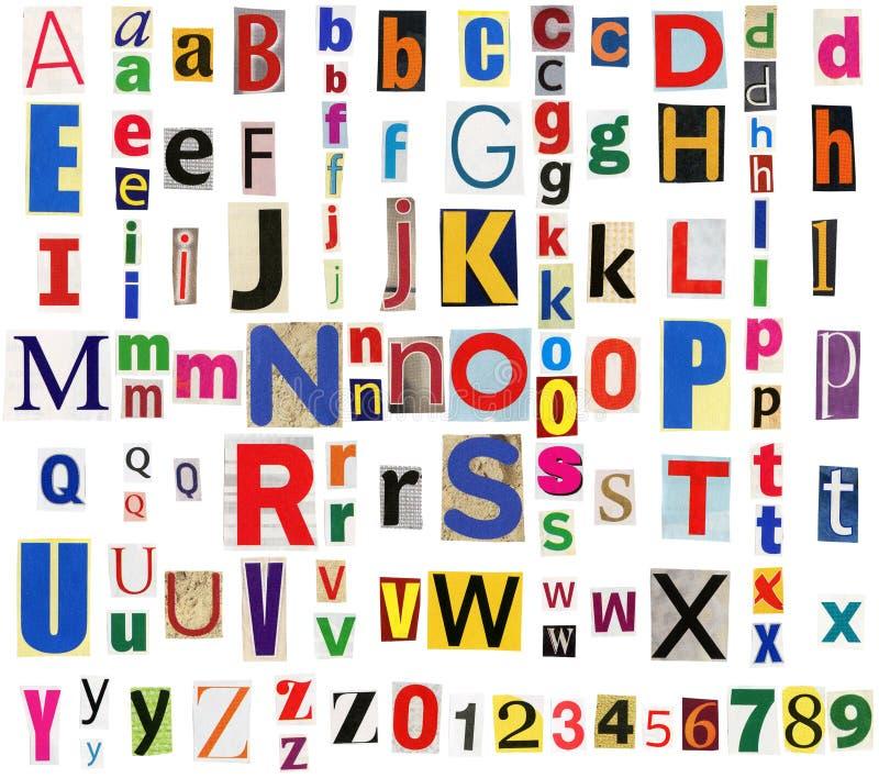 journal coloré d'alphabet photo stock