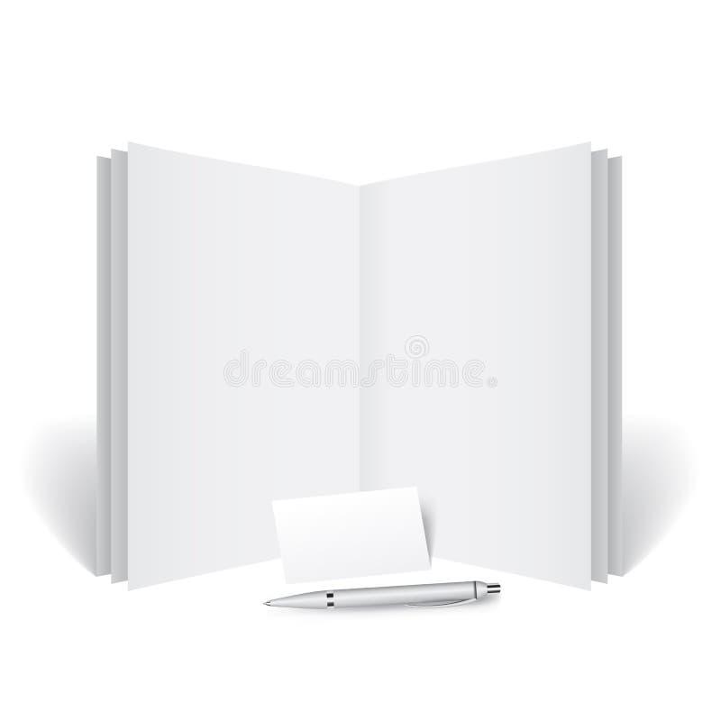 Download Journal Dtaill Avec Une Carte De Visite Professionnelle Illustration Vecteur