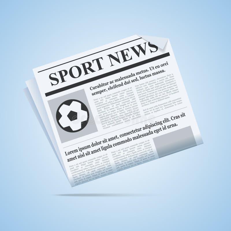 Journal d'actualités de sport illustration libre de droits