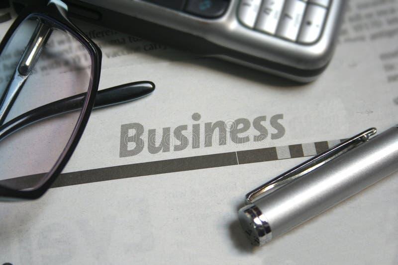 Journal d'affaires image libre de droits