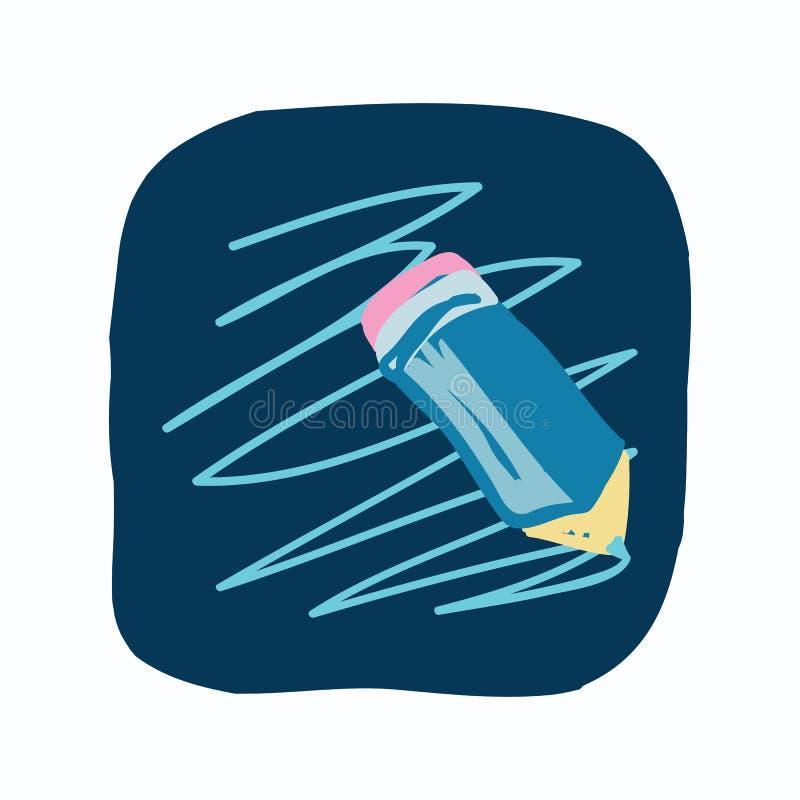 Journal de la vie, icône de media social, griffonnage de couleur illustration de vecteur