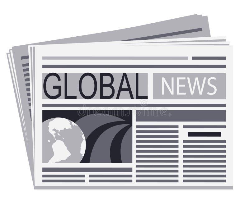 Journal des nouvelles globales illustration stock