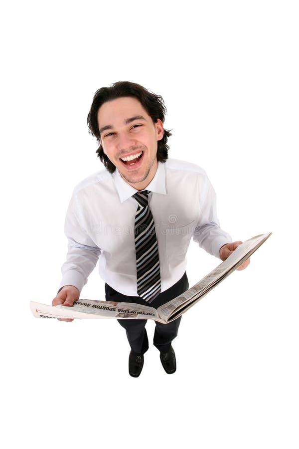 Journal du relevé d'homme d'affaires photos stock