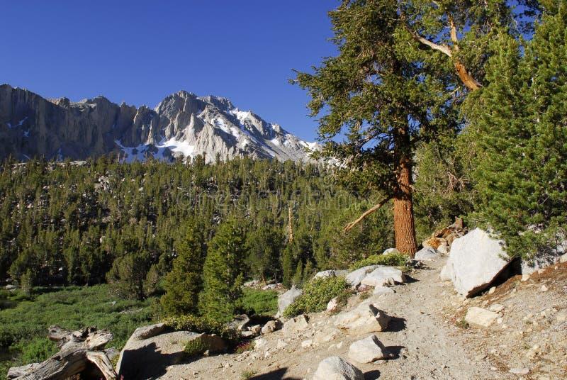 Journal en sierra montagnes de Nevada photographie stock