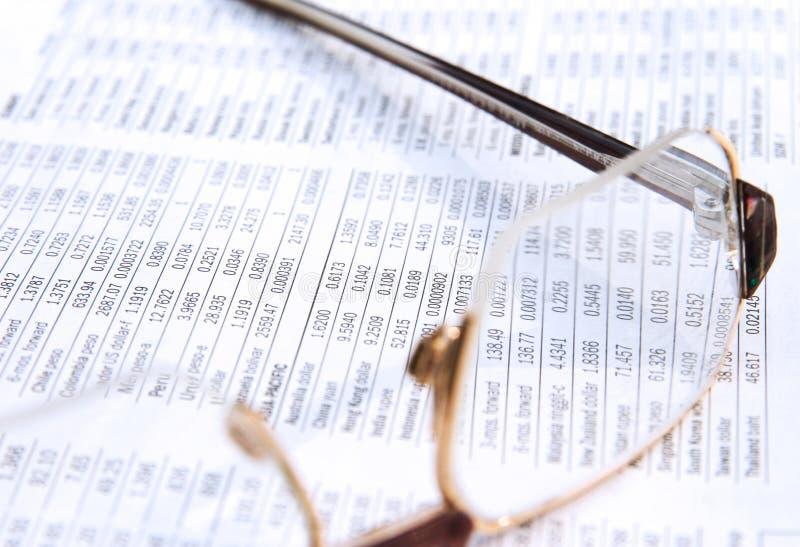 Journal financier photographie stock libre de droits