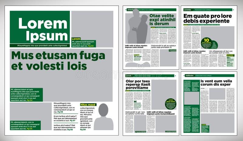 Journal graphique de conception illustration stock