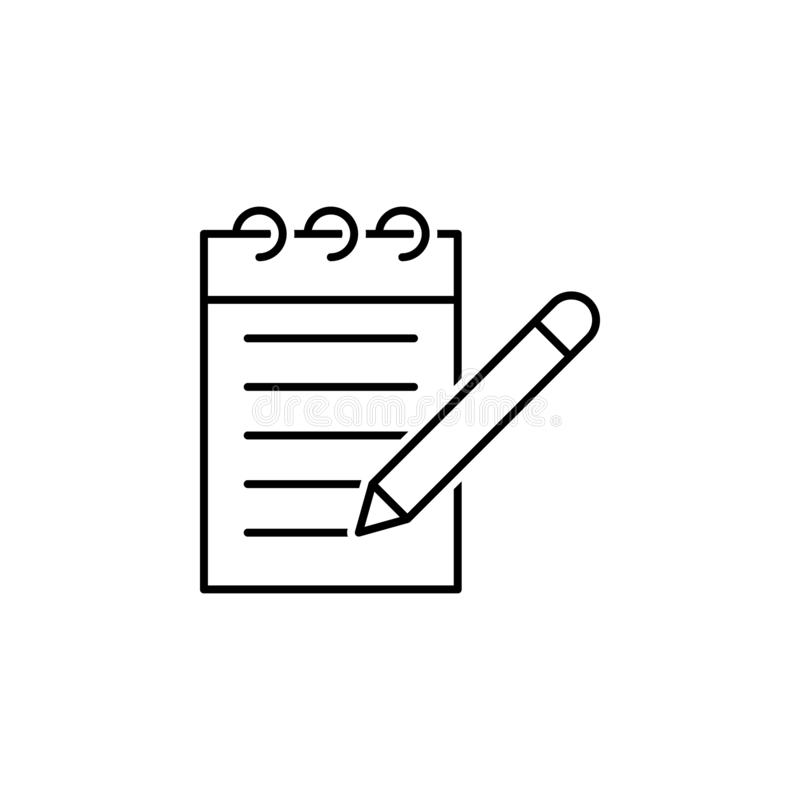 Journal icon. Element of news thin line icon. On white background royalty free illustration