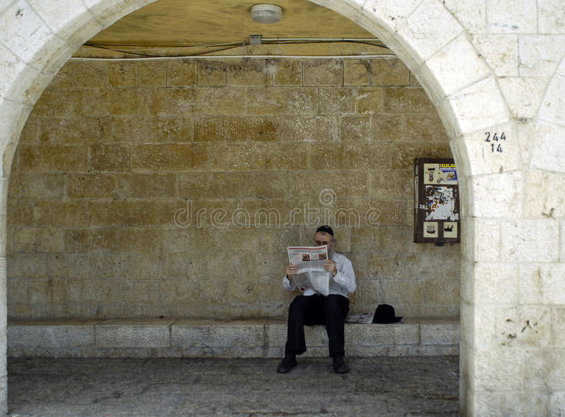 Journal juif du relevé d'homme image libre de droits